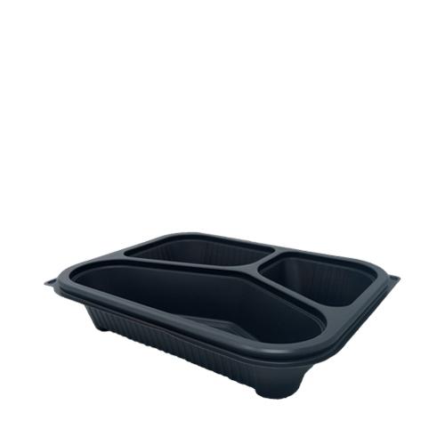 Faerch 3 Compartment Tray 22.7 x 11.7 x 5.3cm Grey