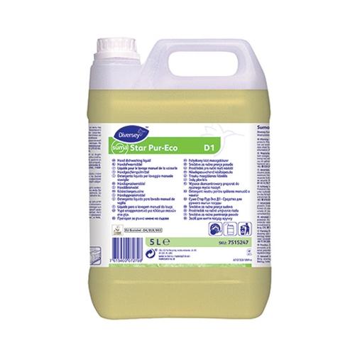 Pur-Eco Suma Star D1 Hand Dishwashing Detergent 5Ltr Yellow