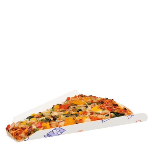 Colpac Ssupa Snax Pizza Slice Tray 172 x 180mm Printed