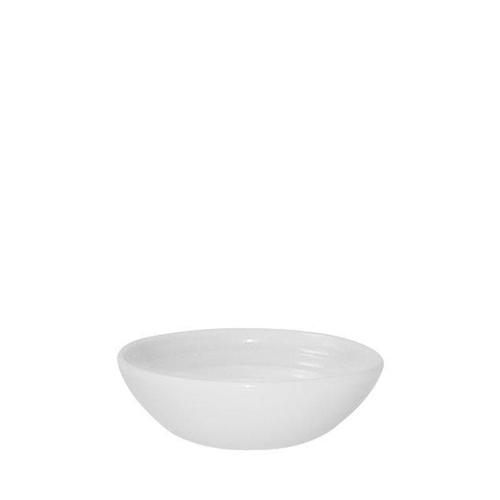 Churchill Bit On The Side White Glaze Ripple Dip Dish 5oz