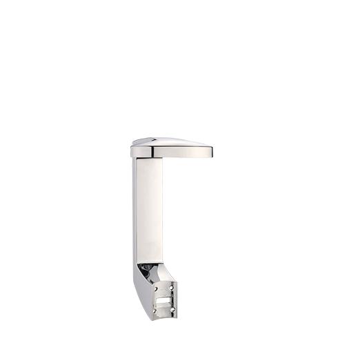 Press + Wash Single Self Adhesive Holder Chrome