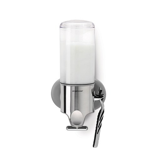 Simplehuman Wall Mounted  Single Pump Dispenser 444ml Stainless Steel