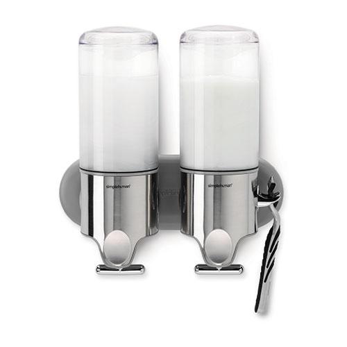 Simplehuman Wall Mounted Twin Pump Dispenser 444ml Stainless Steel
