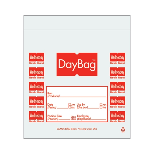 Day of the Week Portion Bag Wednesday 5.5x5.5