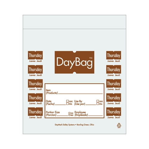 Day of the Week Portion Bag Thursday 5.5x5.5