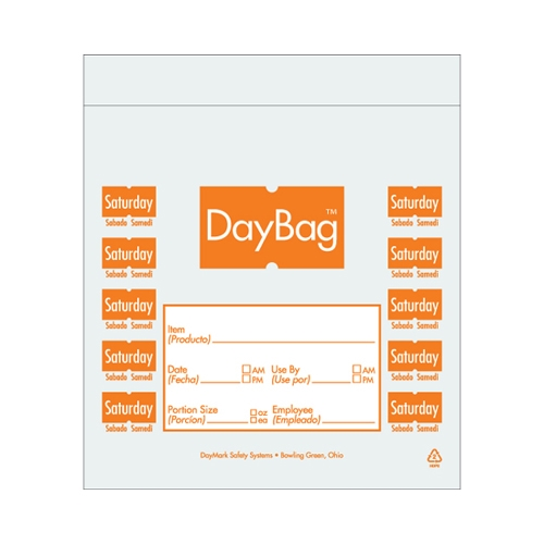 Day of the Week  Portion Bag Saturday 5.5x5.5