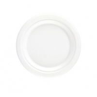 Bagasse  Round Plate 15.5cm White