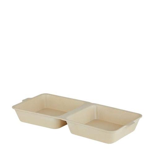 Bamboo Burger Box 32cm x15cm Cream