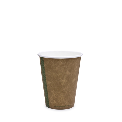 Vegware Kraft  Single Wall Hot Cup 12oz  Brown