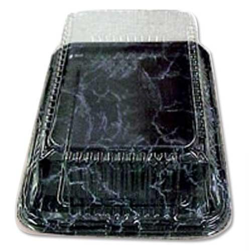 Sabert PET Rectangular Platter 46.0cm x 30.0cm Black Marble
