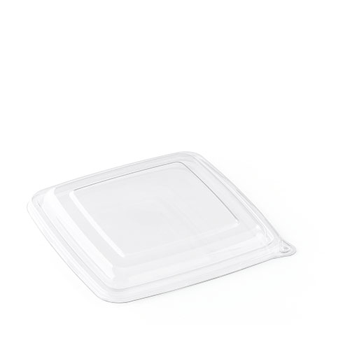 Sabert Be Pulp Square Tray Lid 23 x 23cm Clear