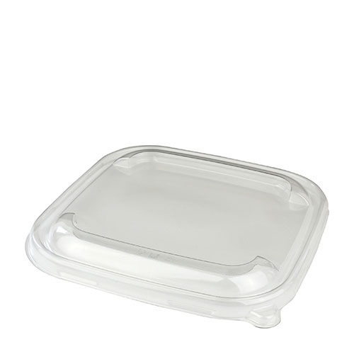 Sabert Be Pulp Square Bowl Lid 17 x 17cm Clear