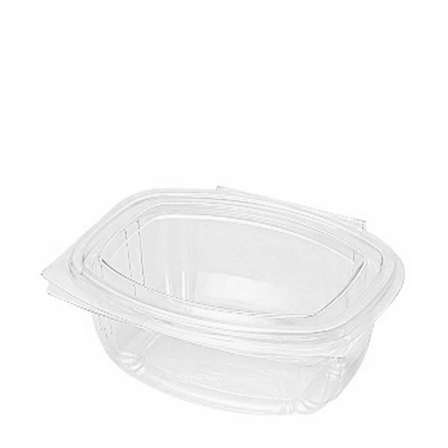 Huhtamaki Bioware Hinged Salad Container 500ml Clear