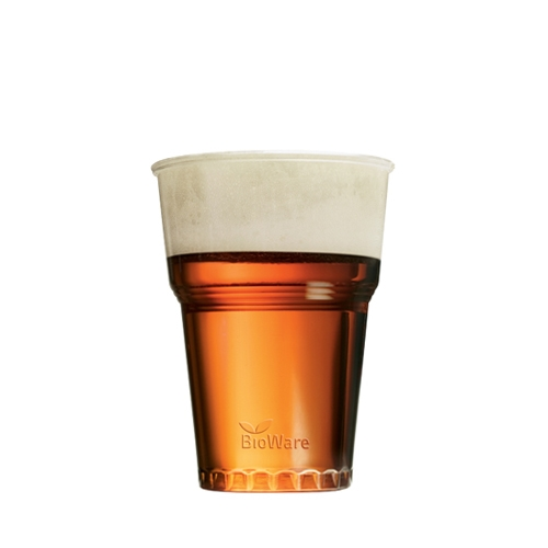 Huhtamaki PLA Bioware Pint Glass 20oz CE Clear