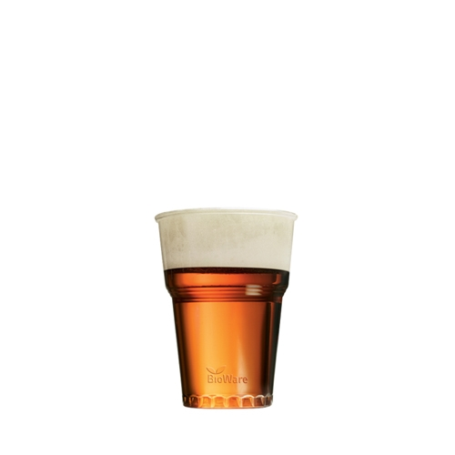 Huhtamaki PLA Bioware Half Pint Glass 10oz CE Clear