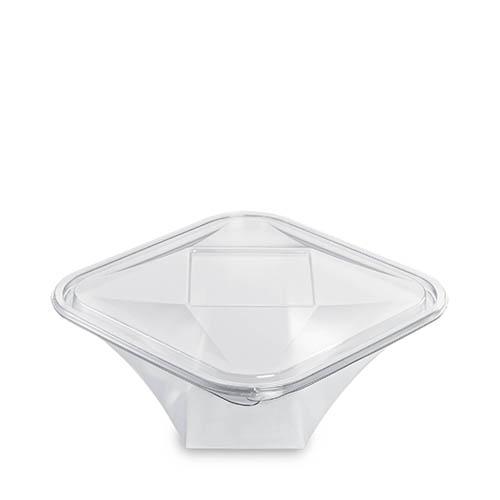 Diamipack Shard Bowl & Lid 1000ml Clear