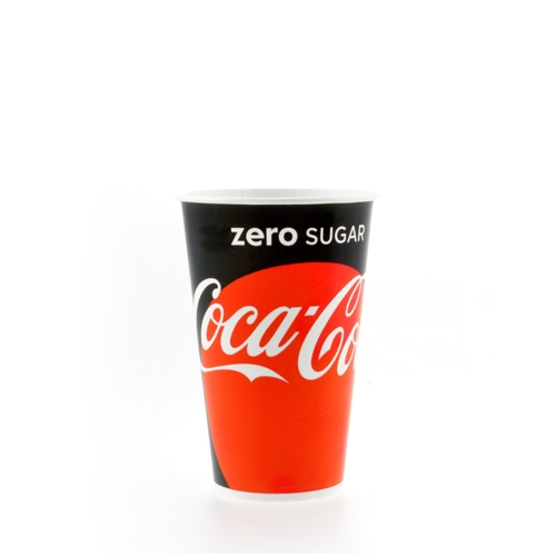 Huhtamaki Coke Zero Paper Cup 16oz
