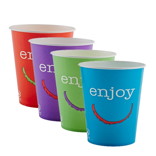 Huhtamaki Enjoy  Paper Cold Cup 9oz Mixed Sleeve