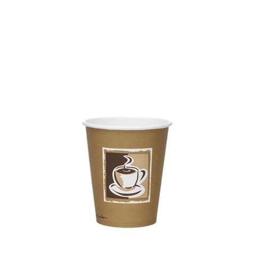 Benders Caffe Premium Hot Cup 8/9oz Brown