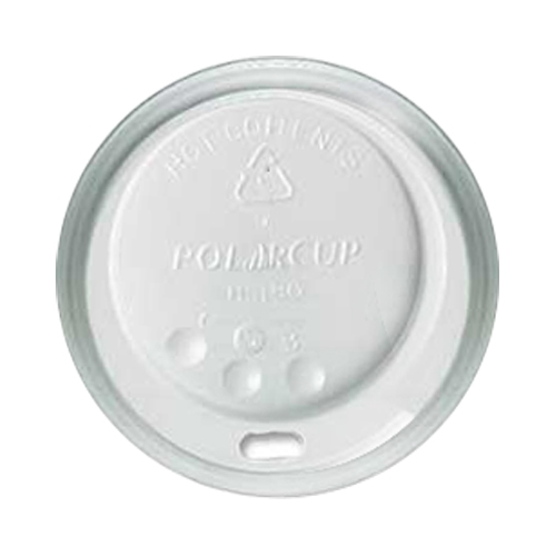 Huhtamaki Domed Hot Cup Lid 8/9oz White