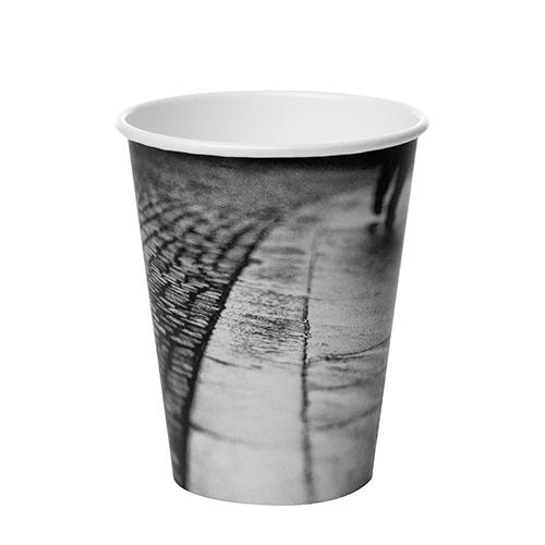 Solo Parisian Single Wall Hot Cup 8oz  Black & White