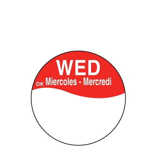 Write On Label Wednesday 2.3cm Red