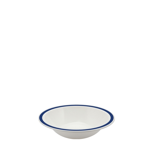Harfield Polycarbonate Duo Bowl with Royal Blue Rim 17.3cm White