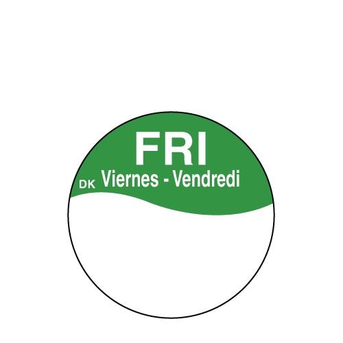 Write On Label Friday 2.3cm Green