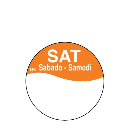 Write On Label Saturday 2.3cm Orange