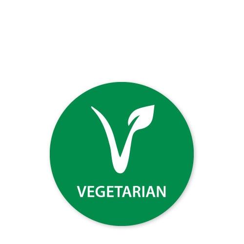 MoveMark Dietary Advice Label - Vegetarian 2.5cm Green