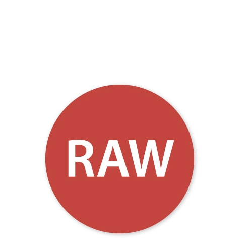 MoveMark Dietary Advice Label - RAW 2.5cm Red