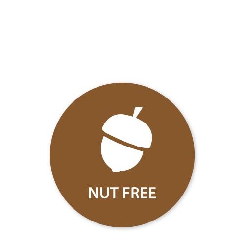 MoveMark Dietary Advice Label - Nut Free 2.5cm Brown