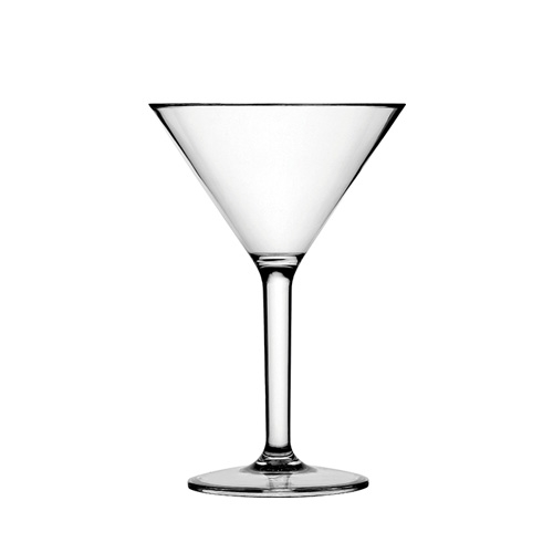 Utopia Diamond Polycarbonate Martini Glass 28cl Clear
