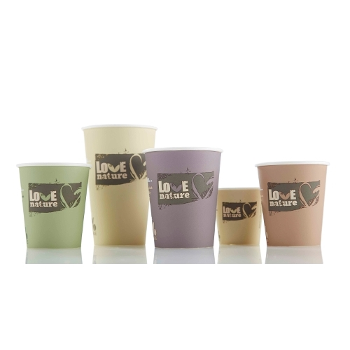Huhtamaki Bioware Love Nature Single Wall Hot Cup 9oz Mixed Sleeve