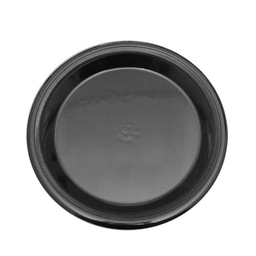 Laminated Ebony Foam Plate 23cm Black