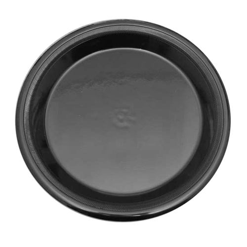 Laminated Ebony Foam Plate 25cm Black