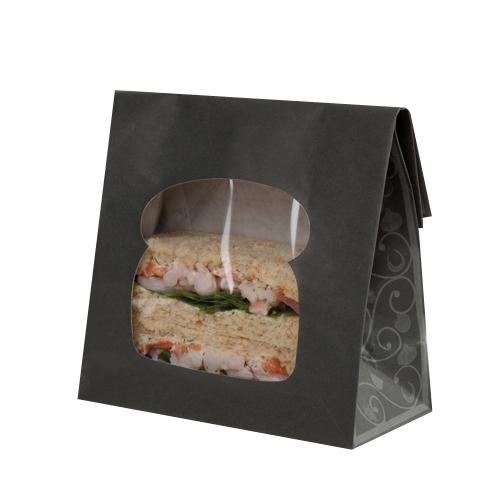 Colpac Elegance  Laminated Sandwich Bag 155x72x220mm Black