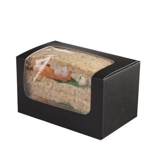 Colpac Elegance  Square Cut Sandwich Pack 125x77x72mm Black