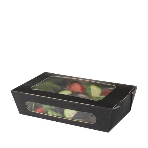 Colpac Elegance  Tuck-Top Salad Pack 820ml  Black