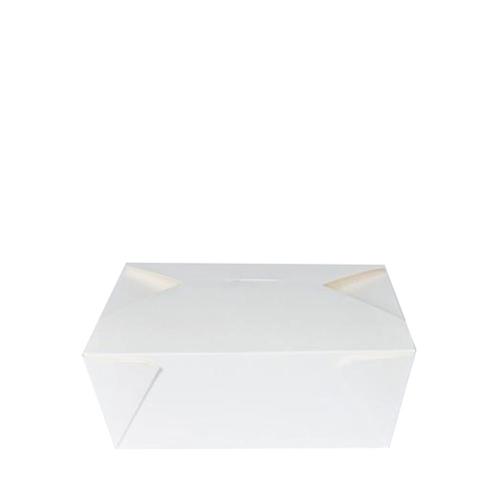 No. 3 Leakproof Food Carton 19.5 x 21.5 x 6.3cm White