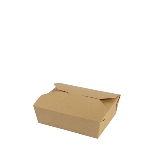 Vegware Leakproof Food Carton 15.2cm x 12.1cm x 5cm Brown
