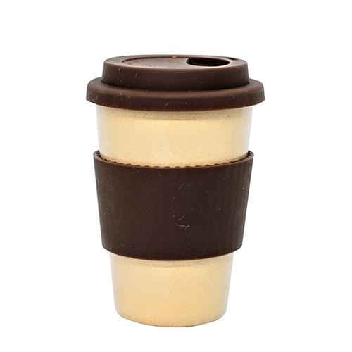 Rice Husk Reusable Cup 14oz Brown