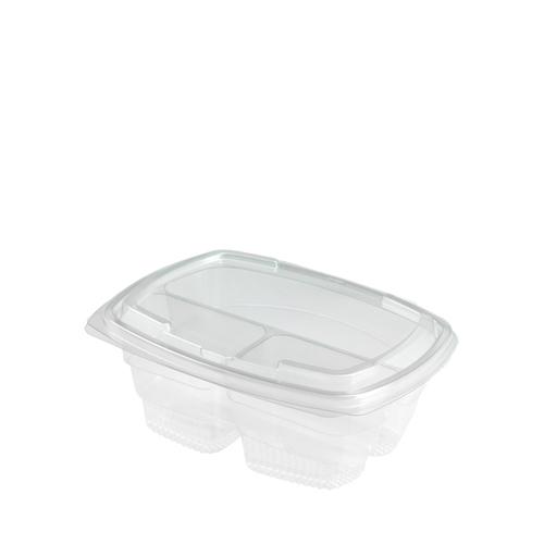 Faerch Fresco Salad Container (3 Compartment) 750ml Clear