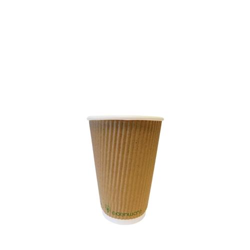 Edenware Triple Ripple Wall Hot Cup 8oz Kraft