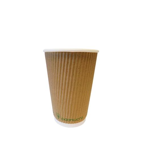 Edenware Triple Ripple Wall Hot Cup 16oz Kraft