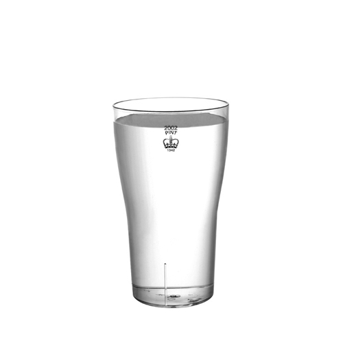 Plastico Clarity  Reusable Tumbler 20oz CE Brim Clear
