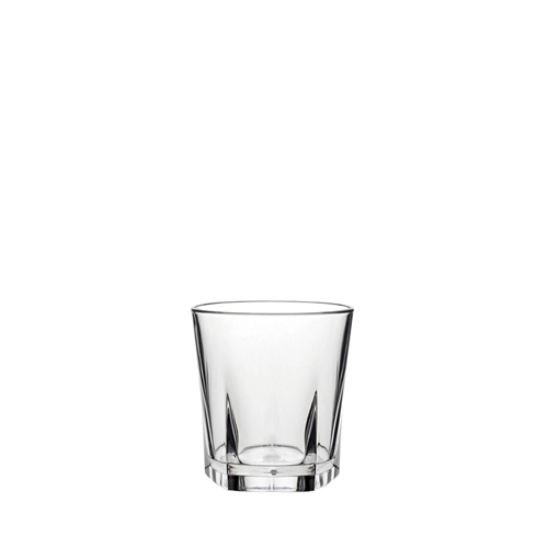 Utopia Pentagon  Polycarbonate Old Fashioned Glass 9oz Clear