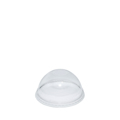 rPET Dome Lid With No Hole Clear