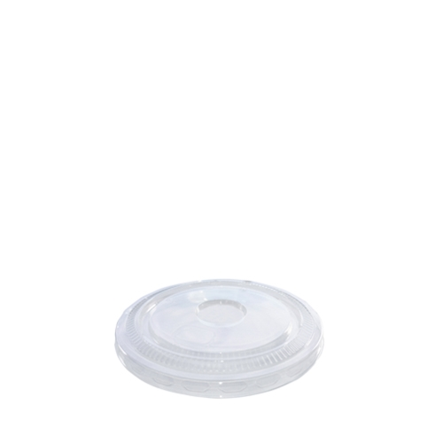 rPET Flat Lid With No Hole 25.6 / 34.1-39.8cl Clear