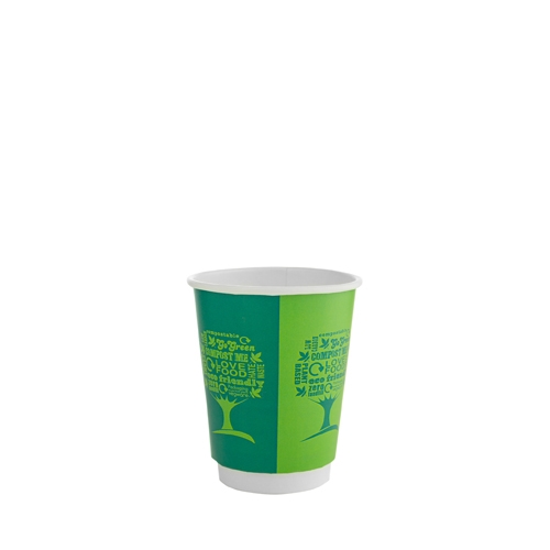 Green Tree Double Wall Hot Cup